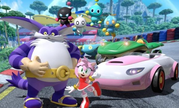 team sonic racing, amy, big the car, four chao, family friendly