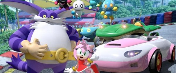 team sonic racing, amy, big the car, four chao