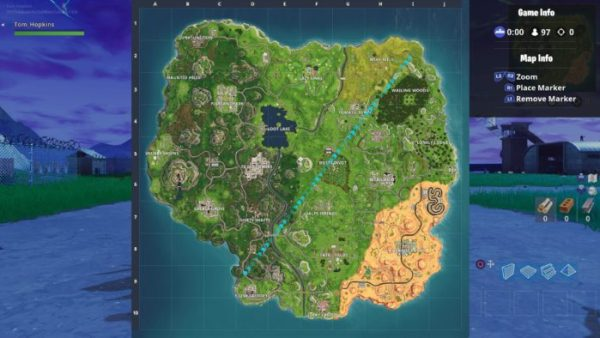 Fortnite, season 5 map