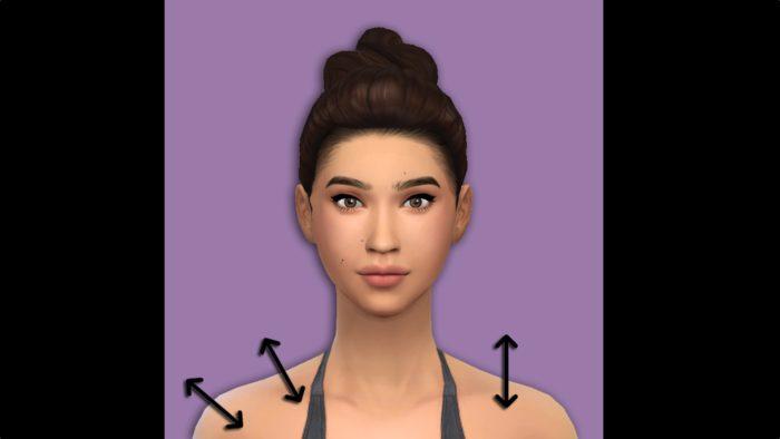 sims 4, mod, shoulder