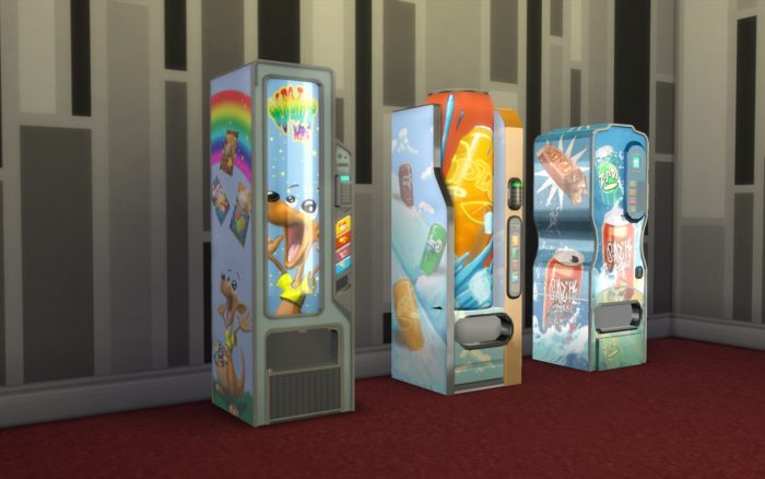 sims 4, mod, vending machine