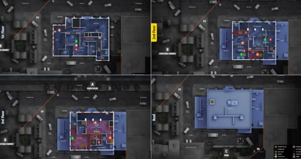 rainbow six siege, all camera locations