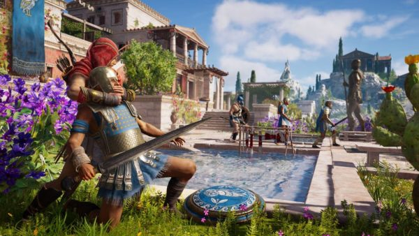where elpenor is ,tablets, assassin's creed odyssey, xbox one x enhanced