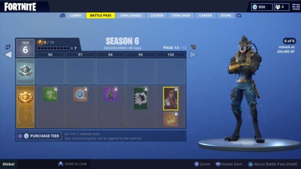 all season 6 battle pass skins in fortnite