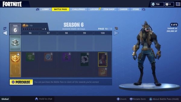 Fortnite, Season 6, tier 100 skin, season 6 tier 100 reward in Fortnite