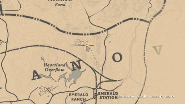 Red Dead Redemption 2 UFO Cabin Map