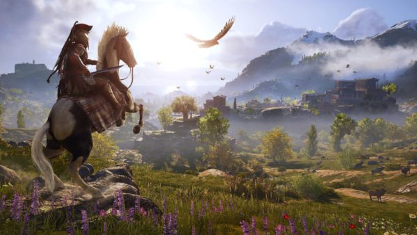 tame animals, Assassin's Creed Odyssey, arena location, post-game, assassin's creed odyssey, map, open world, measured, size, odyssey