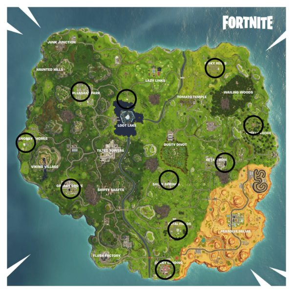 fortnite, fortnitemares, where to find ghost decoration locations