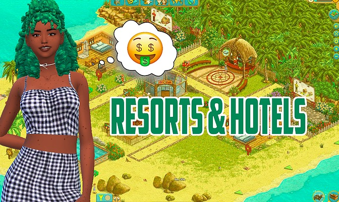 the sims 4 mods, resorts