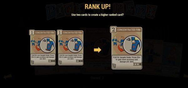 Fallout 76 Upgrade Perk Cards