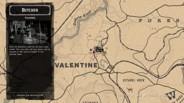 Red Dead Online butcher location, butchers