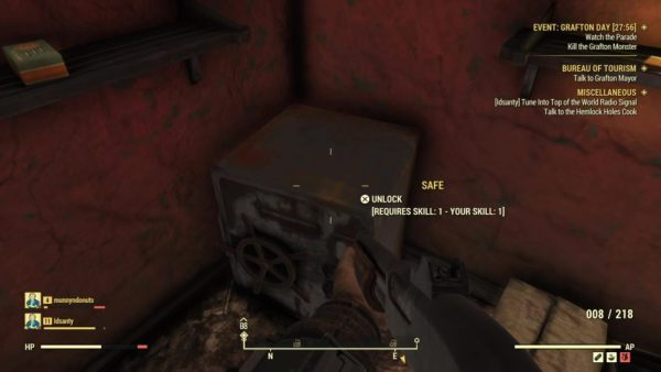 Fallout 76 lockpicking, how to pick locks, lock level