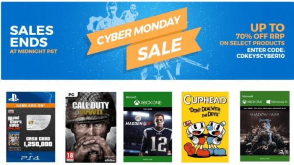 Cyber Monday Sale at CD Keys