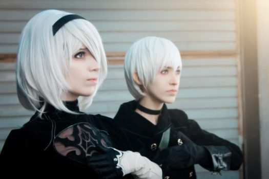 2B and 9S from Nier: Automata
