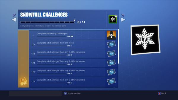 Fortnite Season 7 Snowfall Challenges
