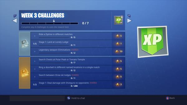 Fortnite Season 7 week 3 challenges
