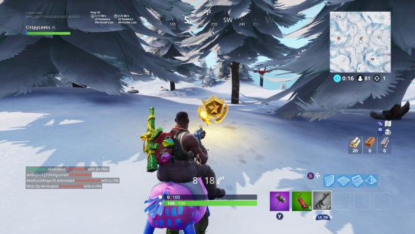 Fortnite, where to search between three ski lodges