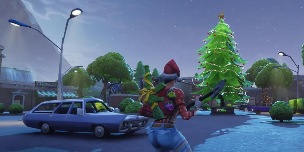 Fortnite Christmas Tree Locations.Fortnite Holiday Tree Locations Where To Dance In Front Of