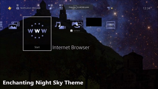 Enchanting Night Sky Dynamic Theme