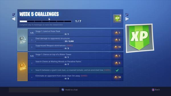 Fortnite Season 7 Week 5 Challenges