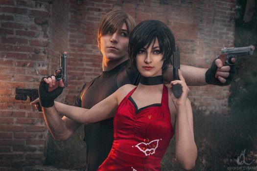 Leon Kennedy and Ada Wong from Resident Evil 4