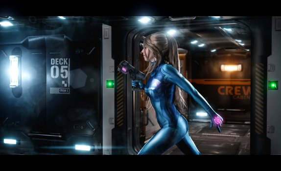 Zero Suit Samus as Metroid