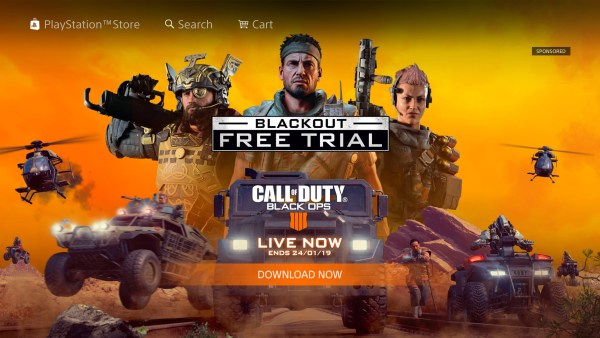 How to get blackout free trial on PS4