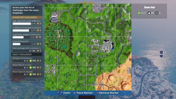 Fortnite Water Tower Map Location