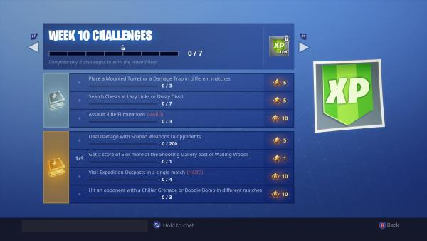 Fortnite week 10 challenges season 7