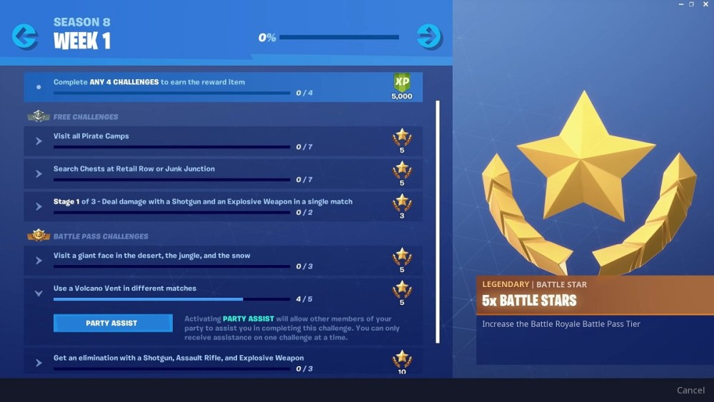 Fortnite, Season 8, What's New, Party ASsist