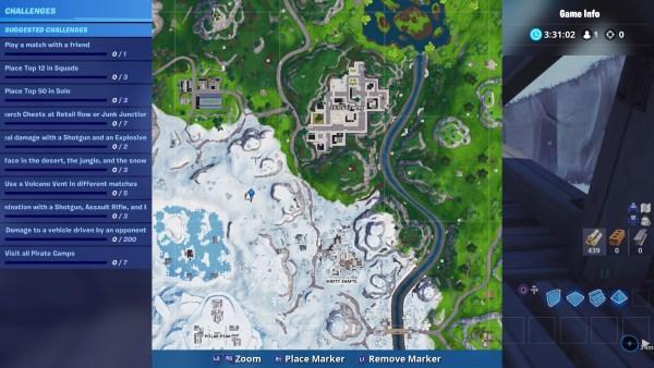 Fortnite season 8, pirate camps locations