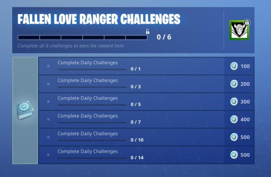 fortnite fallen love ranger challenges
