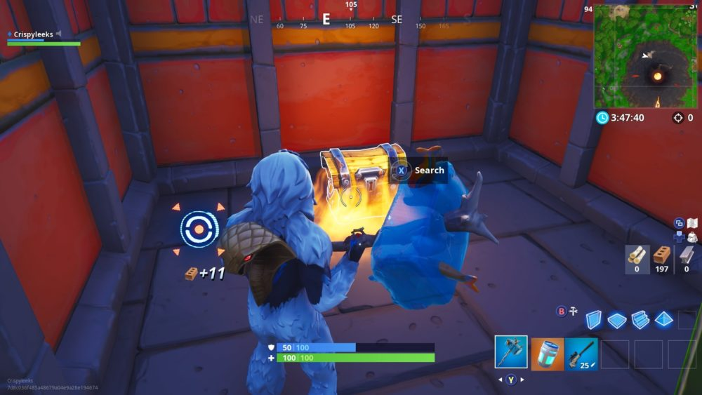 search chests in aztec in fortnite