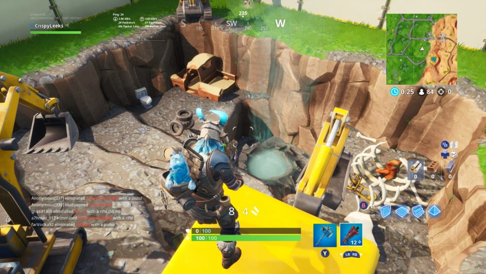 Fortnite excavation site