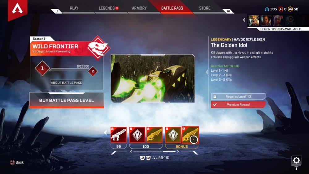 Apex Legends, season 1 battle pass