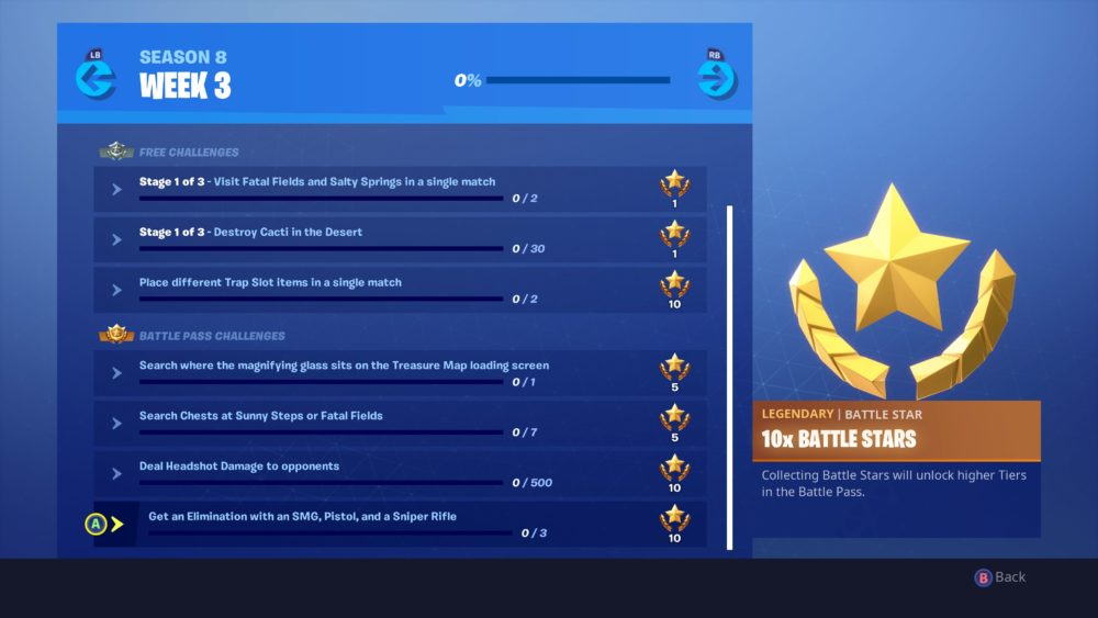 Fortnite Week 3 challenges
