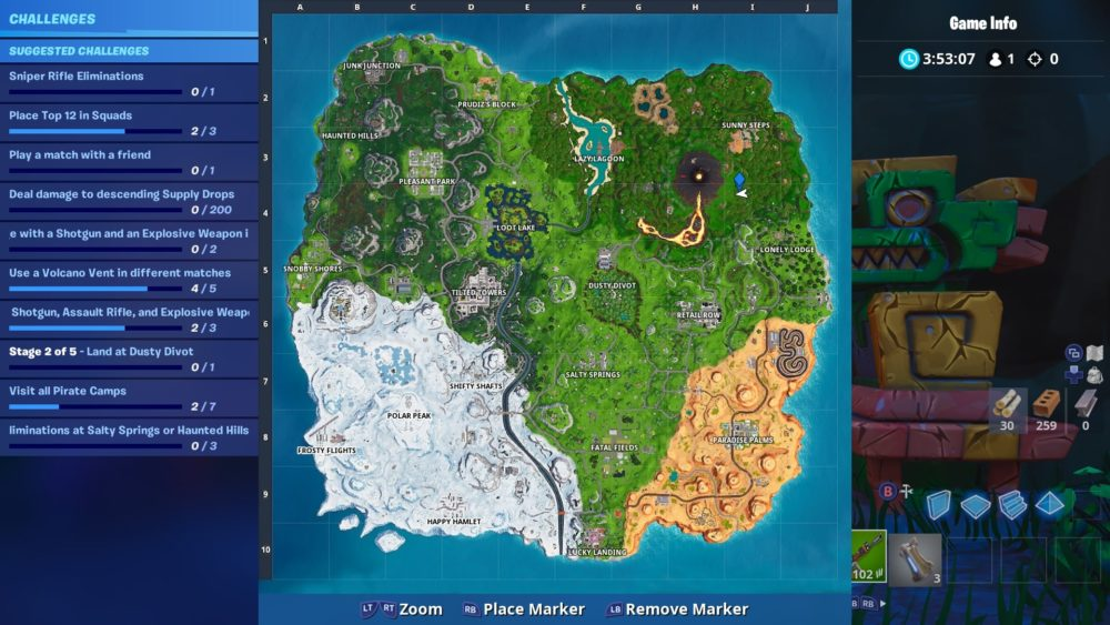 Fortnite week 3 secret star map location