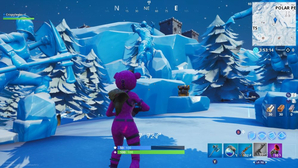 Fortnite where magnifying glass sits on treasure map location