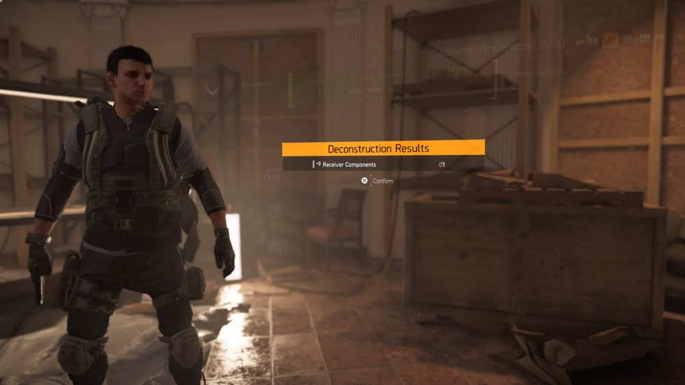 How to Deconstruct Items in Division 2
