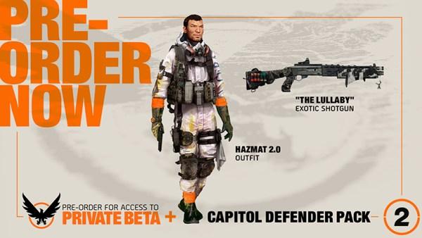 division 2 preorder dlc capitol defender pack