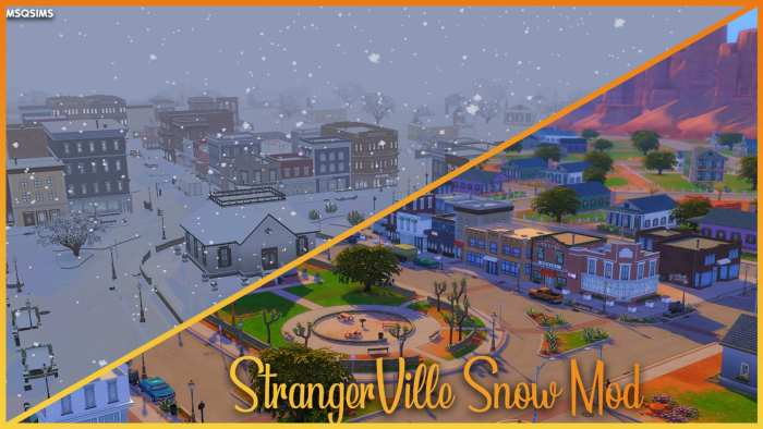 The Sims 4, Mods, Strangerville Snow Mod