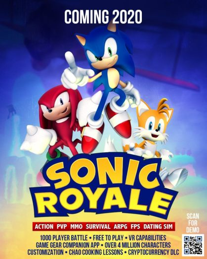 april fool's prank, battle royale, sonic the hedgehog