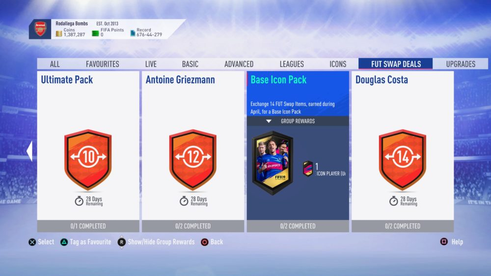 fifa 19, fut swap, april 2019