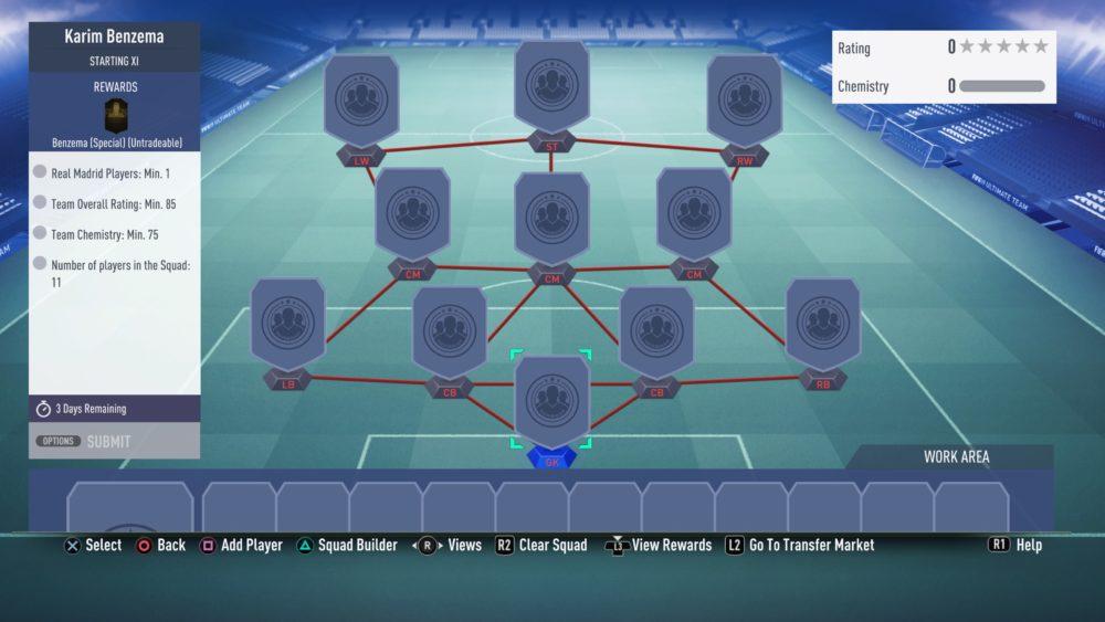 FIFA 19, benzema sbc
