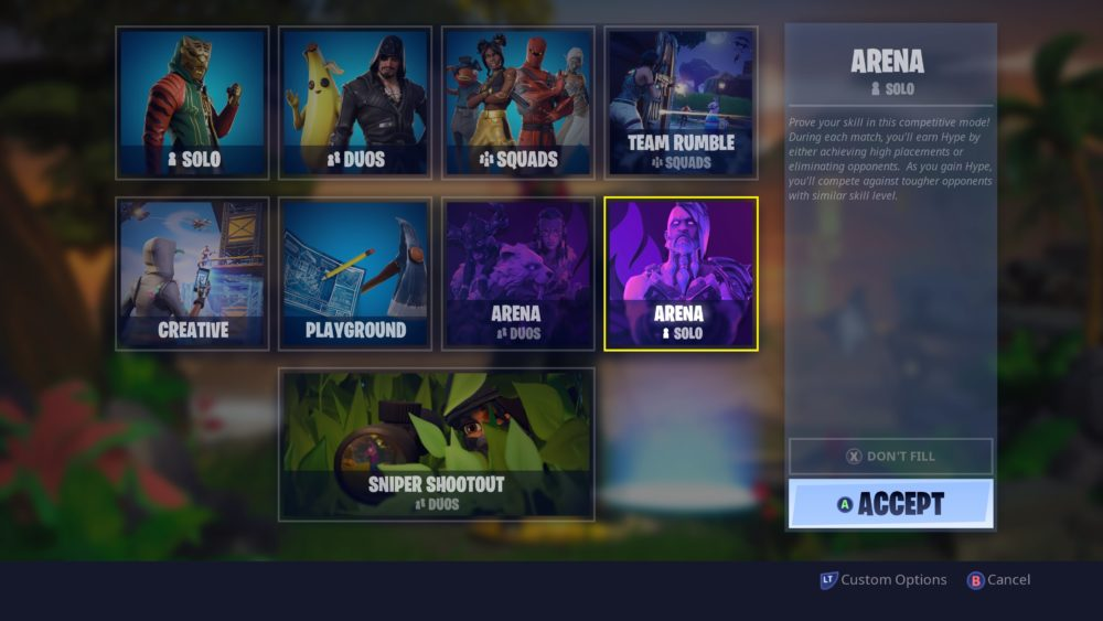 Fortnite Arena how to play