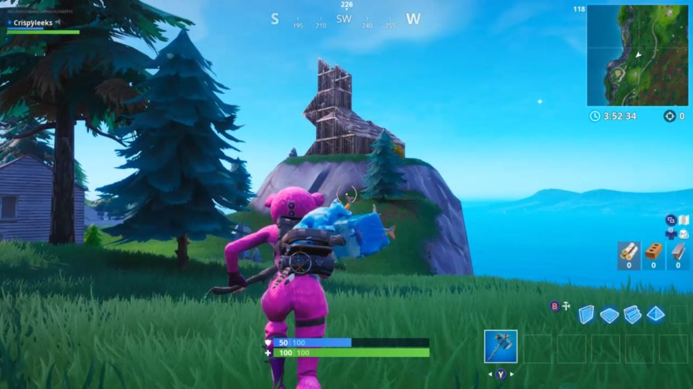 Where To Find The Wooden Rabbit In Fortnite Fortnite Where To Visit Wooden Rabbit Stone Pig Metal Llama Season 8 Week 6 Challenge
