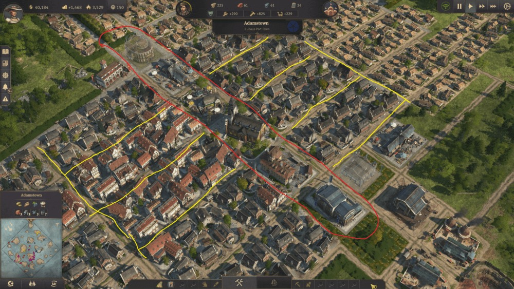 anno 1800 city layout