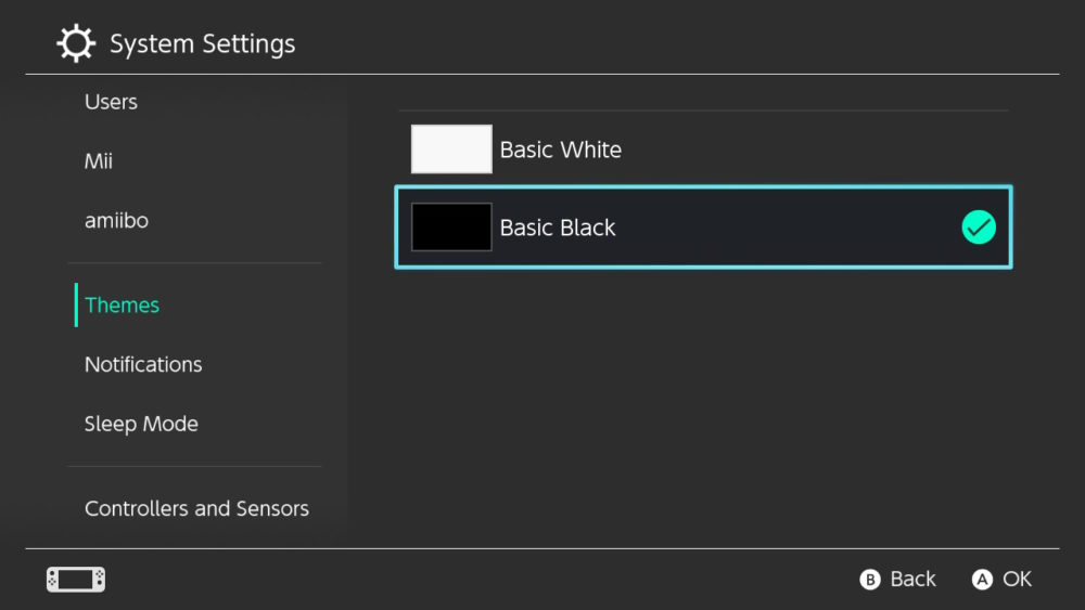 Nintendo, Switch, Settings, Themes, Features, Colors