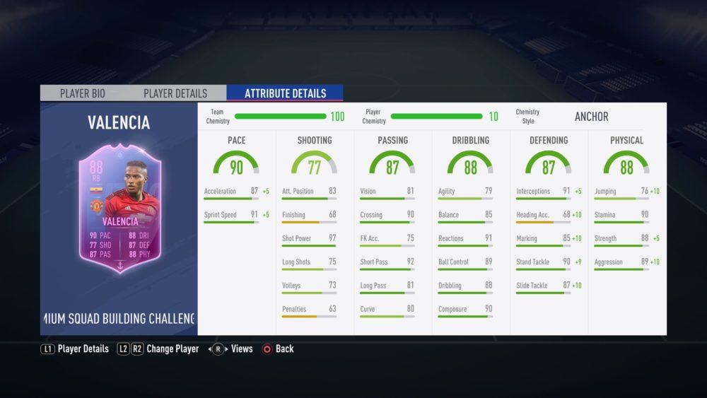 FIFA 19. valencia sbc