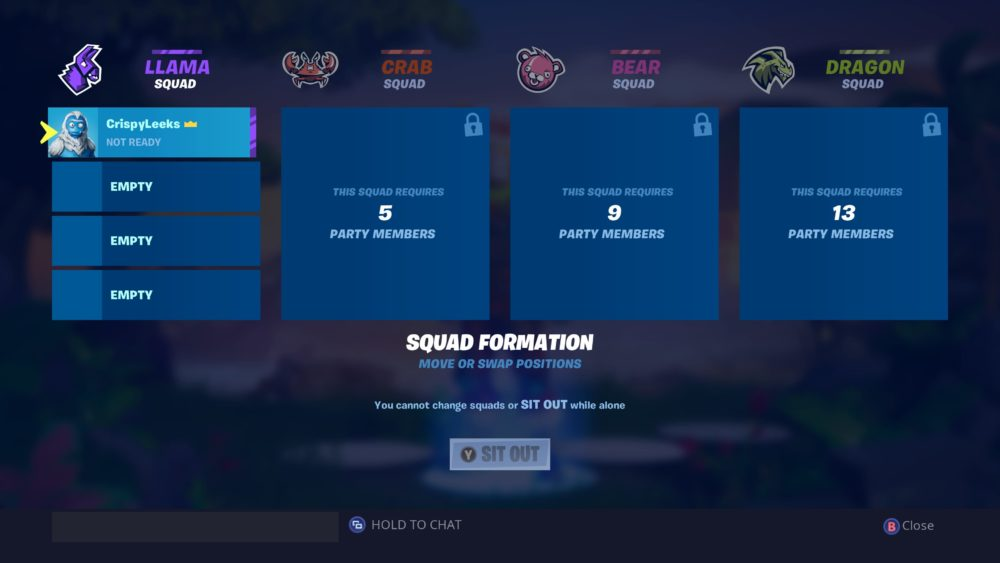 Fortnite Squad Formation